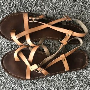 Mossimo Distressed Yellow Sandals